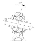 Skizze abgedichteter Gelenkkopf Serie SFC