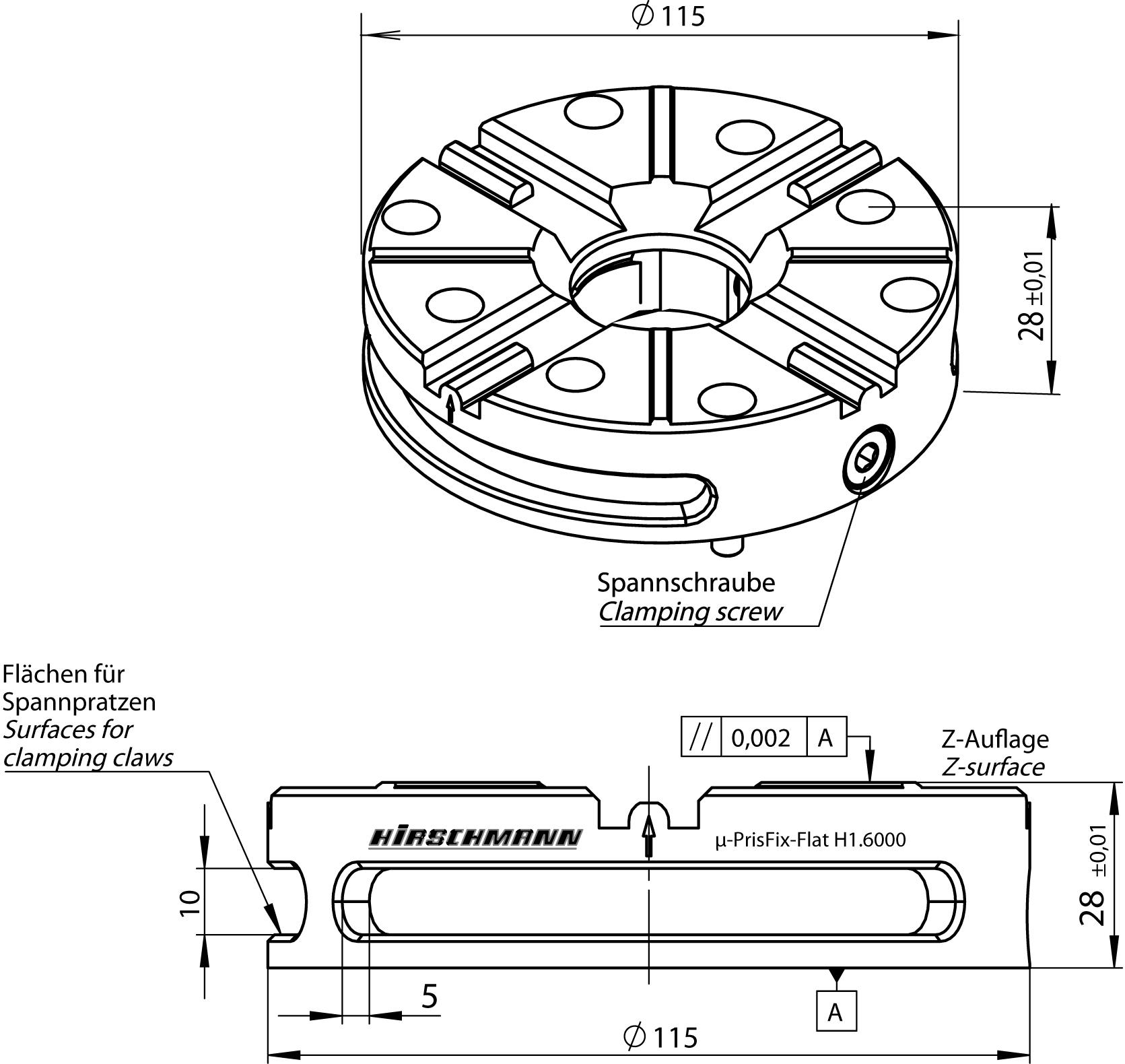 H1.6000 PrisFix Flat Clamper
