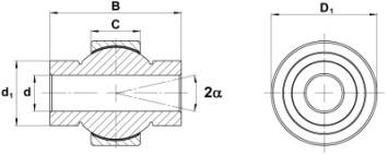 Aluminium-Titan-Leichtbaulager mit Innenring