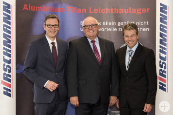 Geschäftsführerwechsel: Jesek, Schneider, Harter (v.l.)
