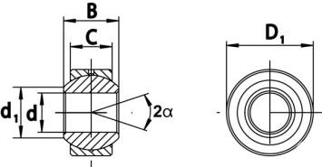 Hochleistungs-Gelenklager Serie SC